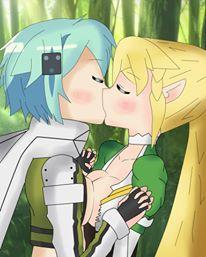 art hentai online leafa sword Anime girl with pastel blue hair