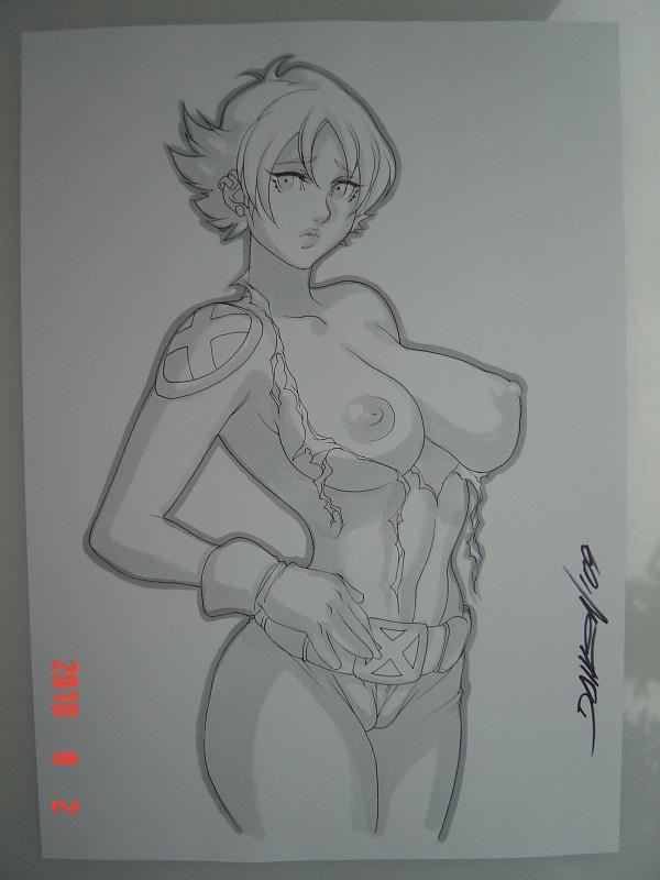 x-men boom-boom Anime girl nipples through shirt