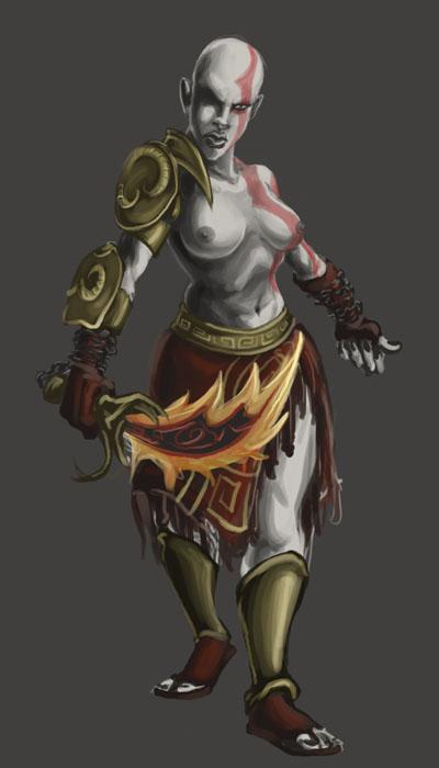 of wife poseidon's god war Crush crush q-piddy