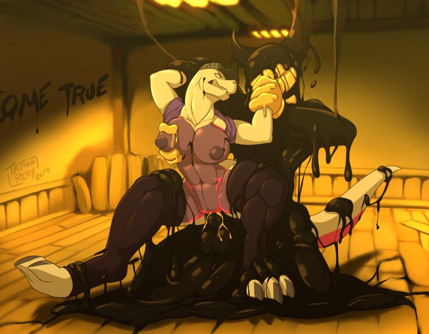 the ink alice machine and boris bendy x Raven and beast boy lemon