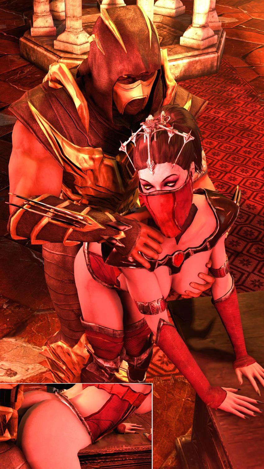 and mileena kitana mortal kombat Seven deadly sins anime elaine